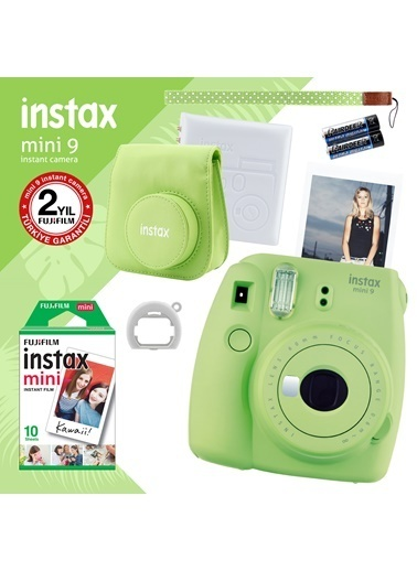 Fujifilm Instax Mini 9 Yeşil Fotoğraf Makinesi ve Hediye Seti 2 Yeşil